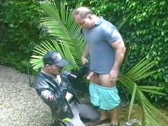 big cocks, blowjobs, dads & mature, hunks, porn stars, public sex, uniform, deepthroat, face fucking, mature, policeman, sloppy blowjob, stud