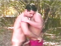 Latino hunks hot blowjobs and anal drilling outside