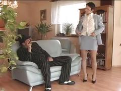 Brunette milf fucked by a hot cock!
