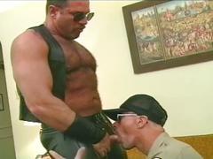 bears, blowjobs, dads & mature, uniform, hairy men, older man, policeman