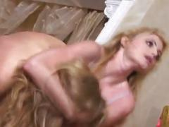 Two big boob horny lesbians riding to each other