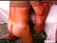 Hot men in uniform fucking in camp