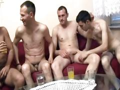 Skinny studs bashing ass holes in steamy orgy pounding session