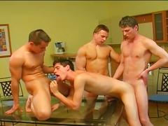 Boys fantasies coming true as horny twinks gather in hot orgy