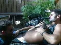 Throat full of big cock and holes filled with cum for horny cops