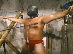 Bdsm slave marcus and master castro whipping and cock torture