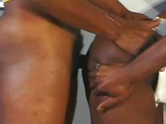 Enormous black dick ebony studs shoving their tight ass holes
