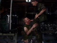 No restrains anal pounding with notorious muscled military studs