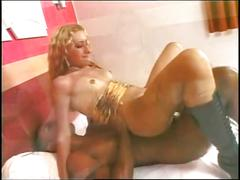 Beautiful blonde fucked hard by the big black cock