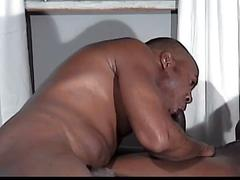 Muscular black studs hot sucking and fucking with cumshot