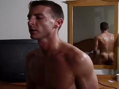 Muscled army dudes hot bareback fucking