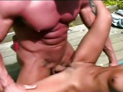 Cute asian cunt gets licked and fucked by bodybuilder