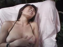 Brunette babe gets some toys into her sweet pussy!