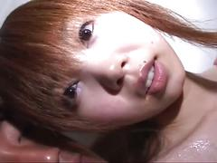 Cute japanese teen wife gets interracial threesome fuck