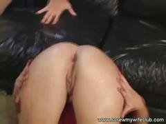 A redhead cuite babe rammed by two hard dick
