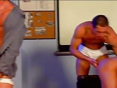Hot group sex in class room with luciano endino