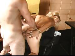 Hot blonde latina babe in sucking and fucking action