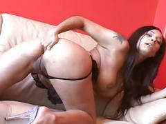 Hot latina with big ass masturbating hard