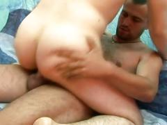 Amateur young anal bashing studs in supreme pounding on couch