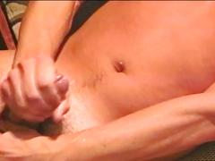Vintage style anal pounding with cum starving muscled studs