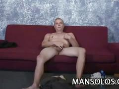 Horny older stud mike williams strokes cock