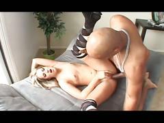 Horny babe fucke very hard by a big black cock