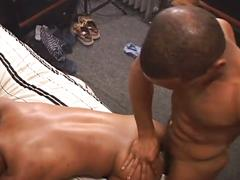 Sexy black studs hot cock sucking and ass fucking action