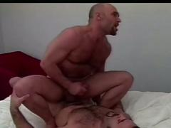 Better than ever muscled daddy bear cops furious anal loading