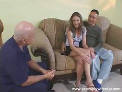 Mrs. abbott gets fucked by another as husband watches