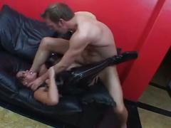 Hot brunette milf get hardcore sex
