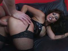 big dick, big tits, blowjob, brunette, hardcore, milf, big boobs, big cock, black hair, cowgirl, missionary, reverse cowgirl, rough fuck, sloppy blowjob