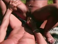 Busty hot babe fucked in special style by a hard dick