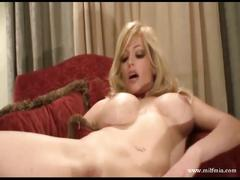 Busty blonde mia masturbates and squirts