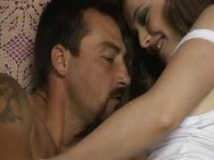 Amateur sex movie with a white stocking babe