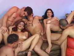 A sexy group was enjoying extreme hardcore sex