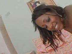 Big ebony ass get hard rammed by a white cock