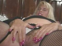 The blonde slut first toying then do hardcore sex