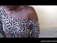 African amateur gives pov blowjob