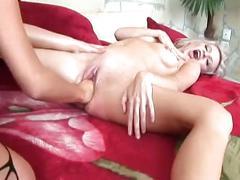 Horny lesbian sluts getting wet with filthy baseball bat