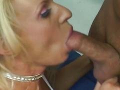 The busty blonde slut drilled by a hard dick