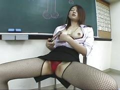 asian, brunette, hairy pussy, masturbation, solo, toys, black hair, japanese, masturbating, vibrator