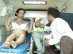 Emergency pregnant fuck by paramedics with latina wife
