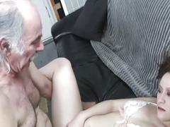 alt porn, babe, big dick, blowjob, brunette, old & young, beauty, big cock, chick, cutie, deepthroat, face fucking, gagging, old man young woman, tattoos