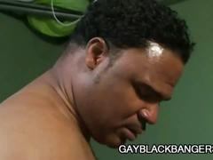 Lewd white stud gulping for monster black cock in all wet holes