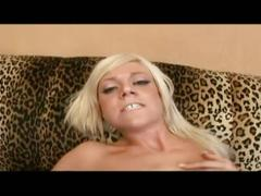 Lovely blonde getting pussy pounded