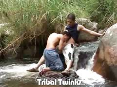 Tribal latino twinks camilo and hernan fervent outdoor bareback