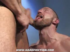 Hunks adam herst and jimmy durano do combination of hard oral and anal