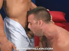 Big dick gay buddies enjoy drilling ass on the floor
