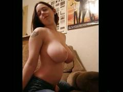 Sexy and naked with big boobs