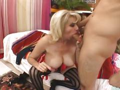 Busty milf in lingerie drilled hard